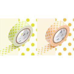 mt - mt Masking Tape : mt 2P Dots Chartreuse x Apricot