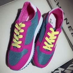 Zandy Shoes - Color-Block Sneakers