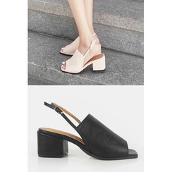 OZNARA - Open-Toe Chunky-Heel Sandals