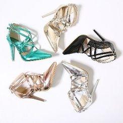 Mancienne - Strappy High Heel Sandals