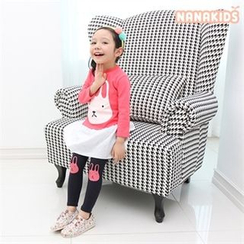 nanakids - Kids Set: Inset Rabbit Print Top Skirt + Leggings