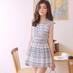 Tokyo Fashion - Patterned Tank Dress