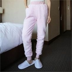 QNIGIRLS - Band-Waist Fleece Sweatpants