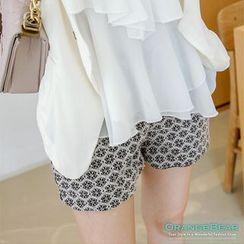 OrangeBear - Floral Lace Chiffon Shorts