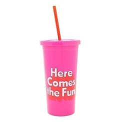 LIFE STORY - Lettering Tumbler with Straw