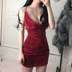 Fashion Street - Deep V Strap Dress