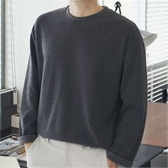 MITOSHOP - Crew-Neck Long-Sleeve T-Shirt