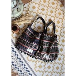 GOROKE - Tassel-Trim Textured Shopper Bag