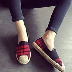 Zandy Shoes - Plaid Slip-Ons