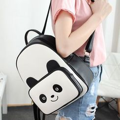Princess Carousel - Faux Leather Panda Backpack