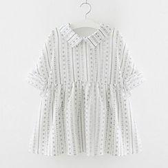 Meimei - Short-Sleeve Patterned Dress