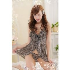 Joy Love Club - Set: Leopard Print Nightdress + Panties