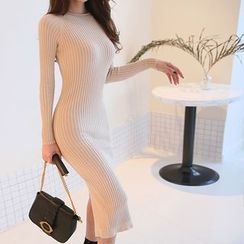 DABAGIRL - Rib-Knit Midi Bodycon Dress
