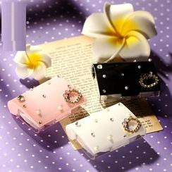 Lens Kingdom - Rhinestone Faux Pearl Contact Lens Case Set