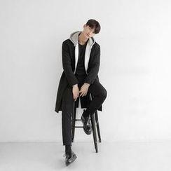 Seoul Homme - Open-Front Wool-Blend Coat