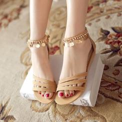 Kireina - Fringed Wedge Sandals