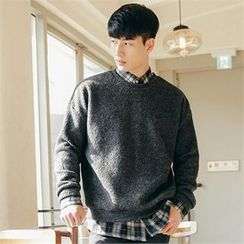 STYLEMAN - Colored Ribbed Sweater