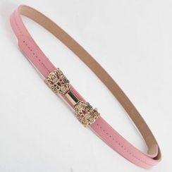 Goldenrod - Bow Skinny Belt