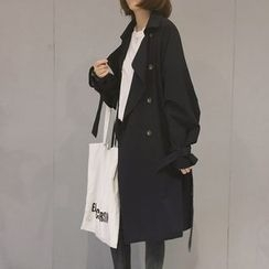 Zzang Girls - Double-Breasted Trench Coat