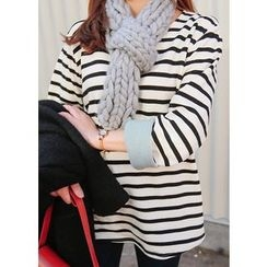 J-ANN - Round-Neck Striped Top