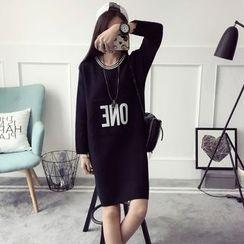 Qimi - Letter Knit Dress