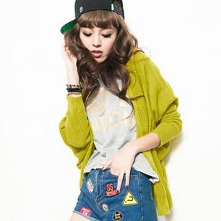CUTIE FASHION - Batwing-Sleeve Open-Front Cardigan