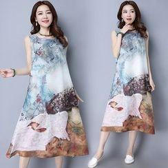 Ebbie - Printed Midi Tank Dress