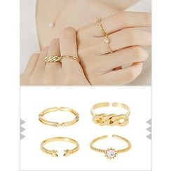 soo n soo - Set of 4: Layered Rings