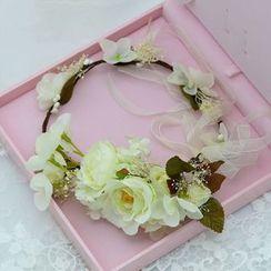 Ashmi - 新娘花花頭飾