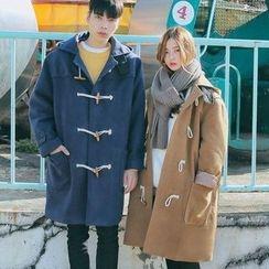 Tabla - Couple Matching Hooded Toggle Coat
