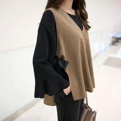 CLICK - Wool Blend Sleeveless Top