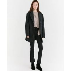 Someday, if - Single-Breasted Wool Blend Oversized Jacket