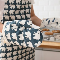 Lazy Corner - Patterned Apron / Kitchen Glove