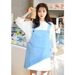 DEEPNY - Mini Denim Jumper Dress