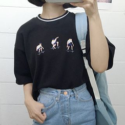 Melon Juice - Embroidered T-Shirt
