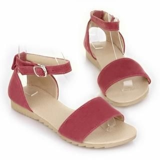 77Queen - Ankle-Strap Flat Sandals