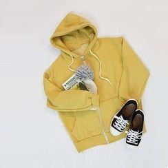 STYLEBYYAM - Drawstring Hooded Zip-Up Jacket
