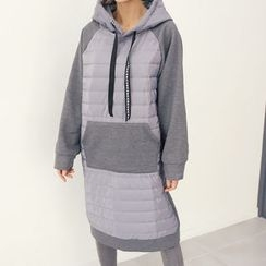 DANI LOVE - Hooded Padded-Panel Pullover Dress