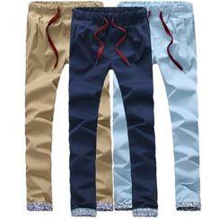 RIVOLO - Drawstring Straight Fit Pants