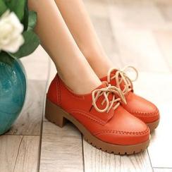 Pangmama - Chunky-Heel Oxford Shoes