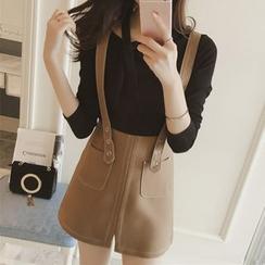 Diado - A-Line Suspender Skirt