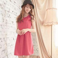 Tokyo Fashion - Sleeveless Bow-Back A-Line Dress