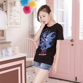 RingBear - Flower-Print T-Shirt