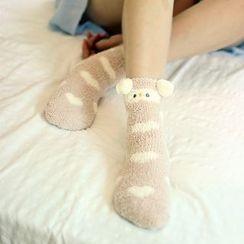 Socka - Ears Printed Velvet Socks