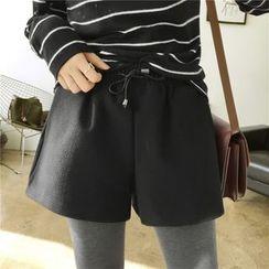 YASOO - Drawstring Wide Leg Shorts