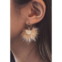 migunstyle - Faux-Fur Earrings