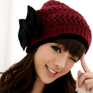 59 Seconds - Wool-Blend Bow-Accent Beanie