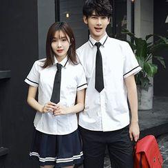 尚雅姿 - 情侶款短袖襯衫