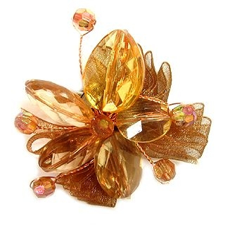 6thJune - Flower Brooch - Brown801