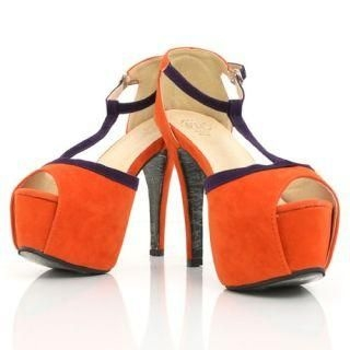 Mancienne - T-Strap Contrast-Color Sandals